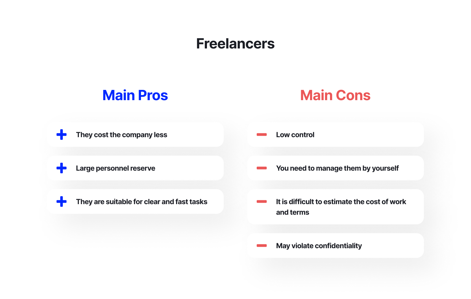 freelancers pros and cons